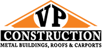 VP Metal Building Construction Logo